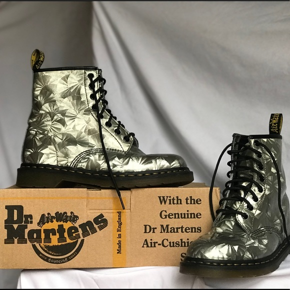 Dr. Martens 1460 Boot In Silver Jewel (#10072)